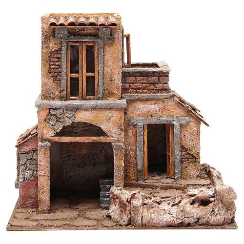Casa con capanna presepe 35x38x25 cm 1