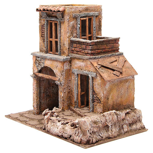 Casa con capanna presepe 35x38x25 cm 2