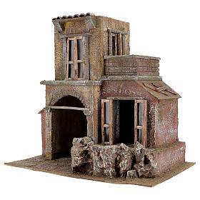 House with hut nativity 35x38x25cm s2
