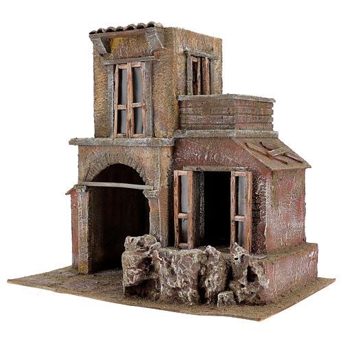 House with hut nativity 35x38x25cm 2