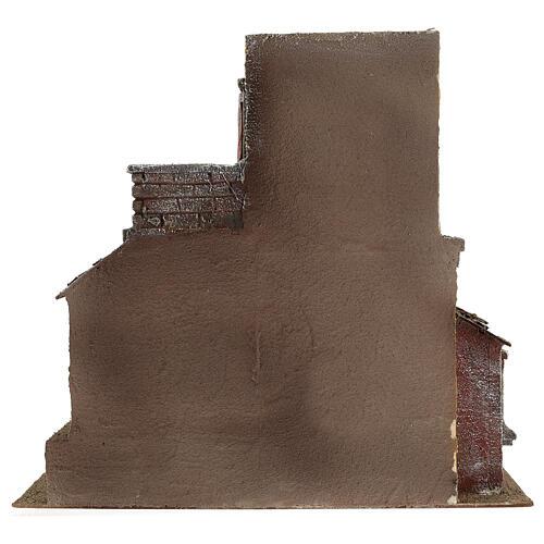 House with hut nativity 35x38x25cm 4