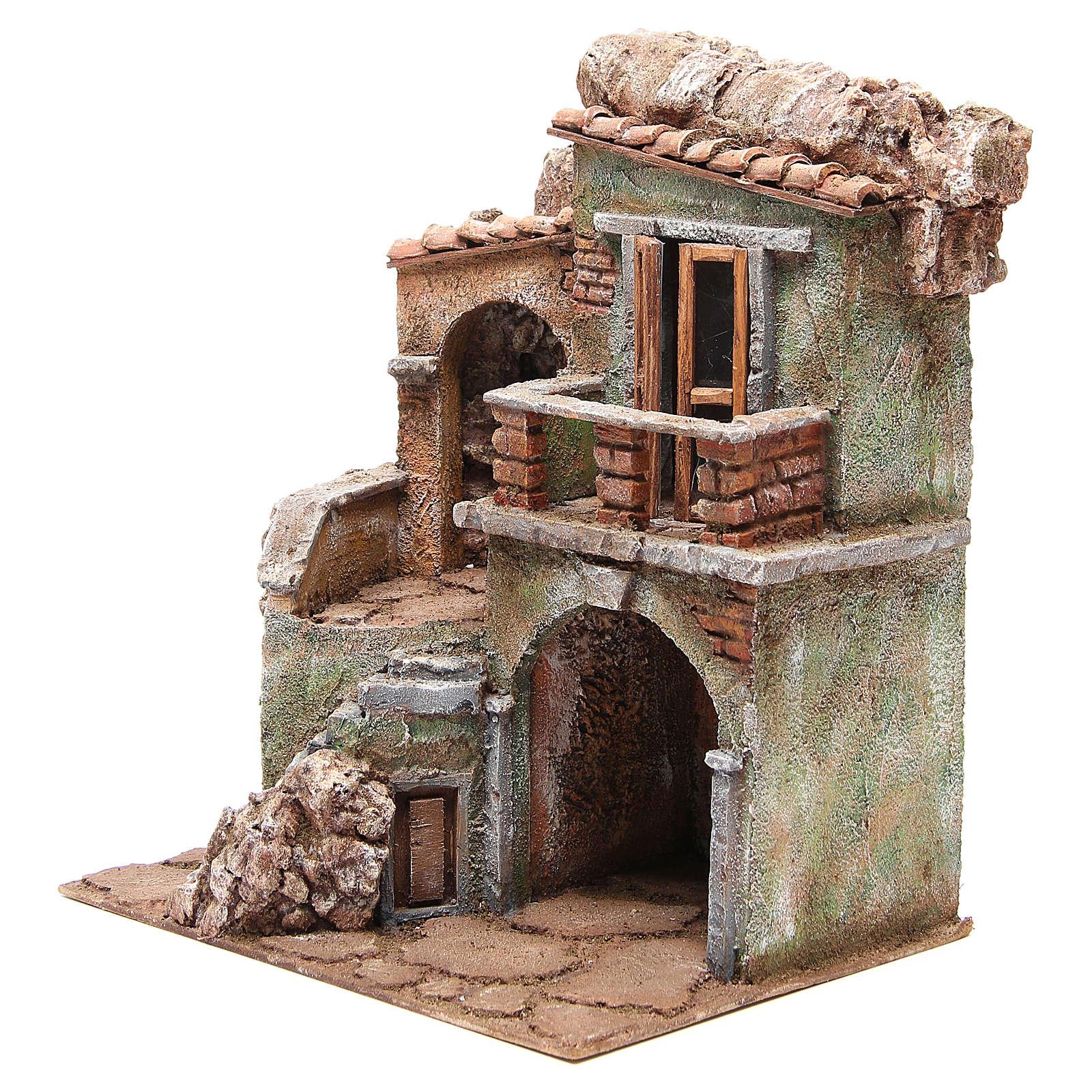 Casa con capanna del presepe cm 35x29x22 cm 4