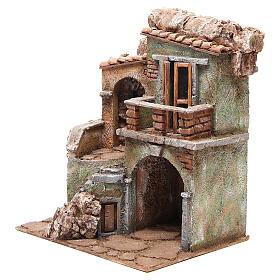 Casa con capanna del presepe cm 35x29x22 cm s2