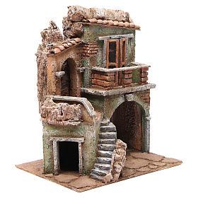 Casa con capanna del presepe cm 35x29x22 cm s3