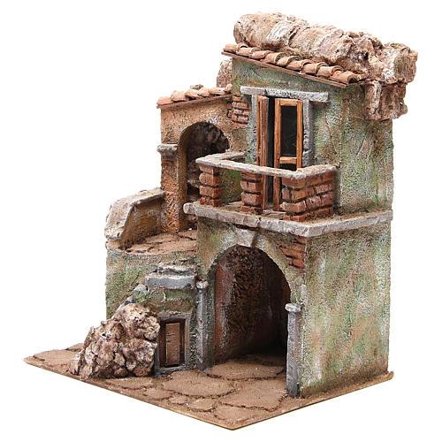 Casa con capanna del presepe cm 35x29x22 cm 2