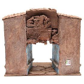 Borgo del presepe con capanna 35x38x25 cm s4