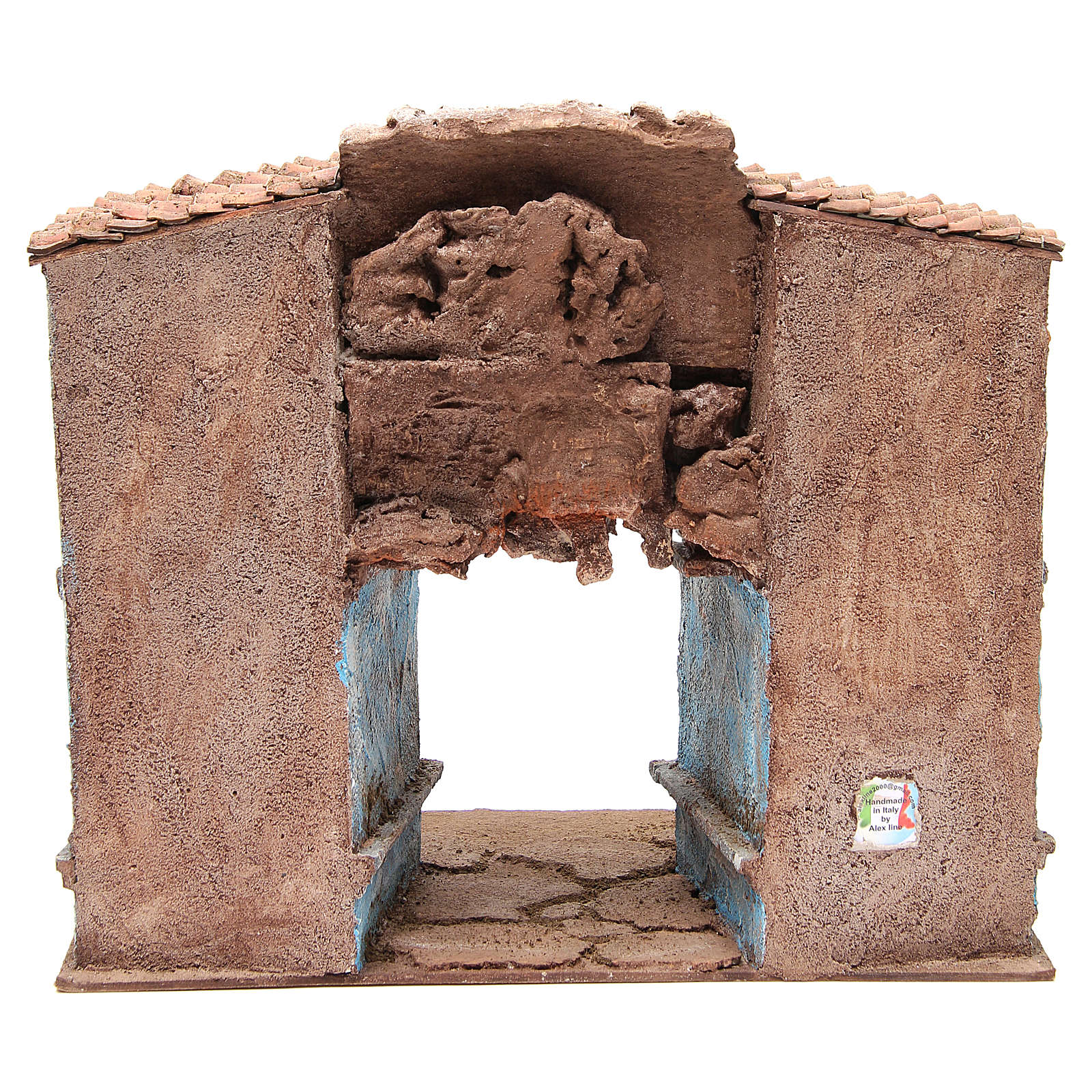 Village Nativity with Shed 35x38x25cm 4