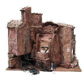 Bourgade ancienne de crèche avec cabane 55x60x50 cm s4