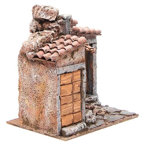 Simple Hut for Nativity 20x25x15cm 3
