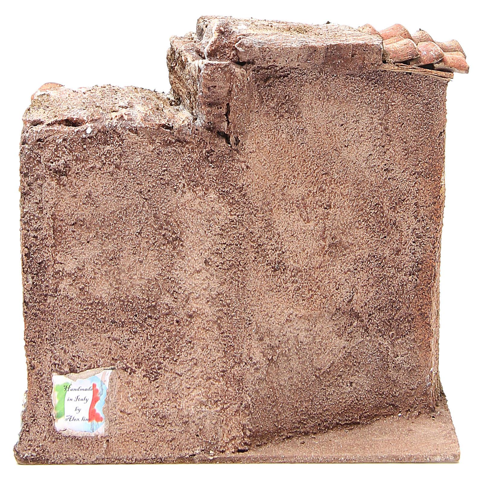 Cabaña presebre tejas terracota 20x25x15cm 4