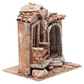 Capannina presepe tegole terracotta 20x25x15 presepe 10 cm s3