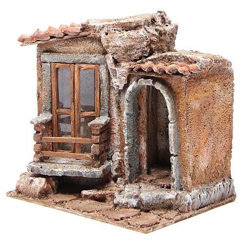 Capannina presepe tegole terracotta 20x25x15 presepe 10 cm 2