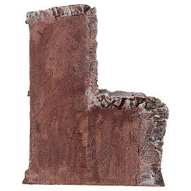 Casa con capanna rustica presepe 10 cm 30x25x15 cm s4