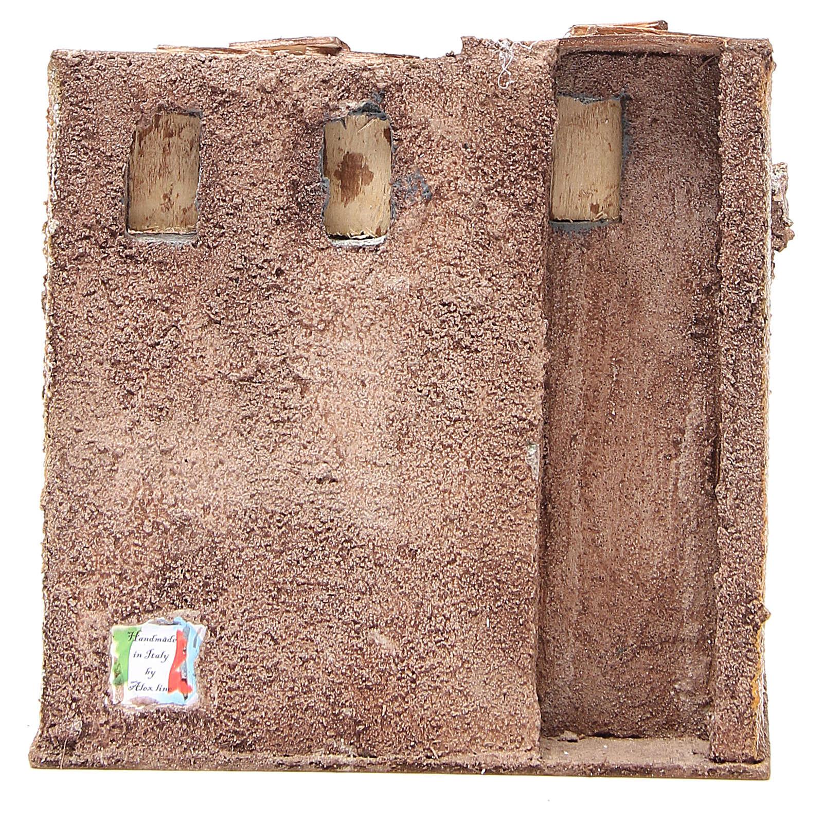 Maisonnette avec cabane rustique crèche 20x25x15 cm 4