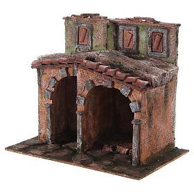 Maisonnette avec cabane rustique crèche 20x25x15 cm s2