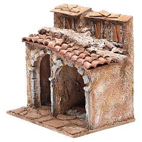 Casetta con capanna rustica presepe 20x25x15 s2