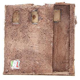 Casetta con capanna rustica presepe 20x25x15 s4