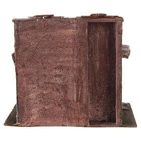 Casetta con capanna rustica presepe 10 cm 20x25x15 s4
