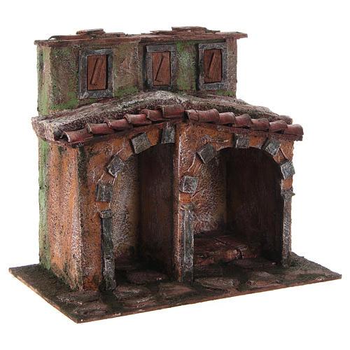 Casetta con capanna rustica presepe 10 cm 20x25x15 3