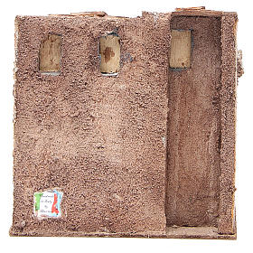 Small house with rustic hut Nativity 20x25x15cm s4