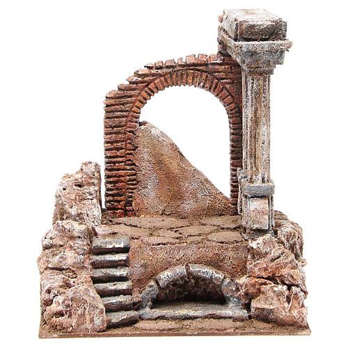 Parte de muro romano con 2 columnas belén 27x24x18 cm 1