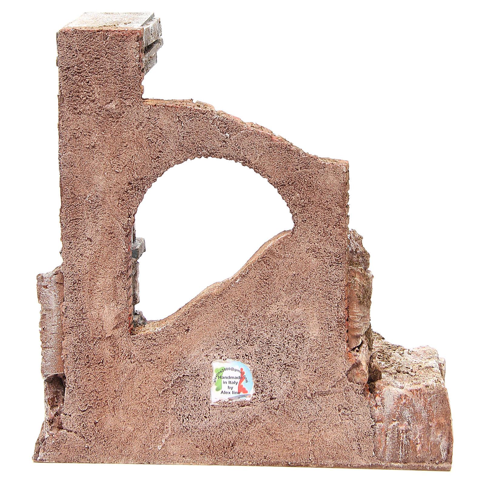Mur romain ancien avec 2 colonnes décor crèche 32x29x22 cm 4