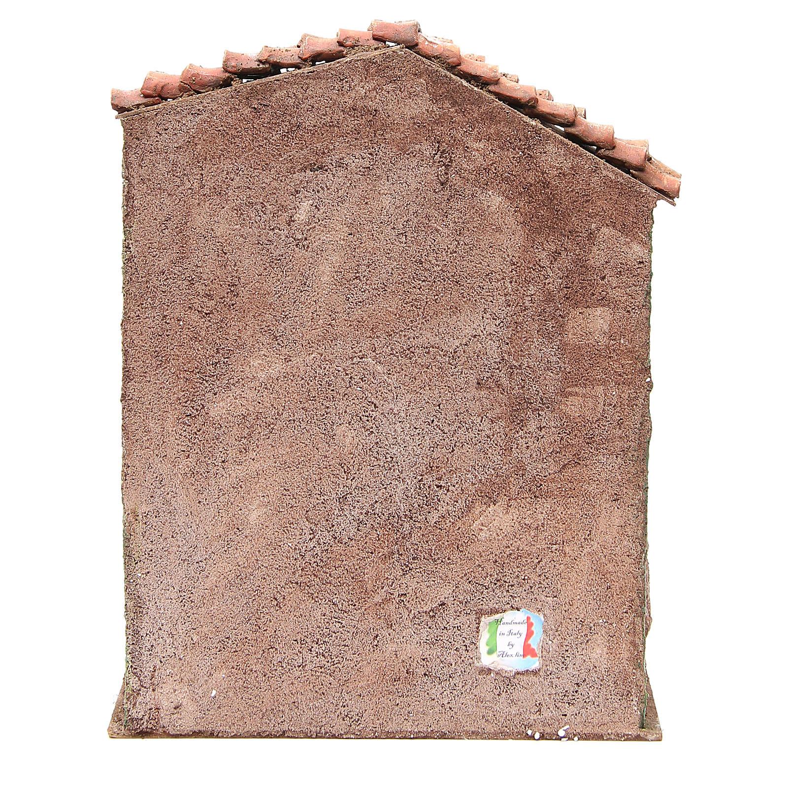 Stalla presepe con casa 30x24x18 cm 4
