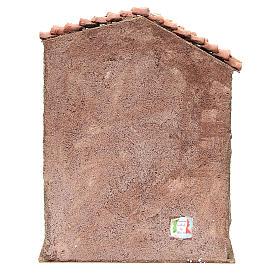 Stalla presepe con casa 30x24x18 cm s4