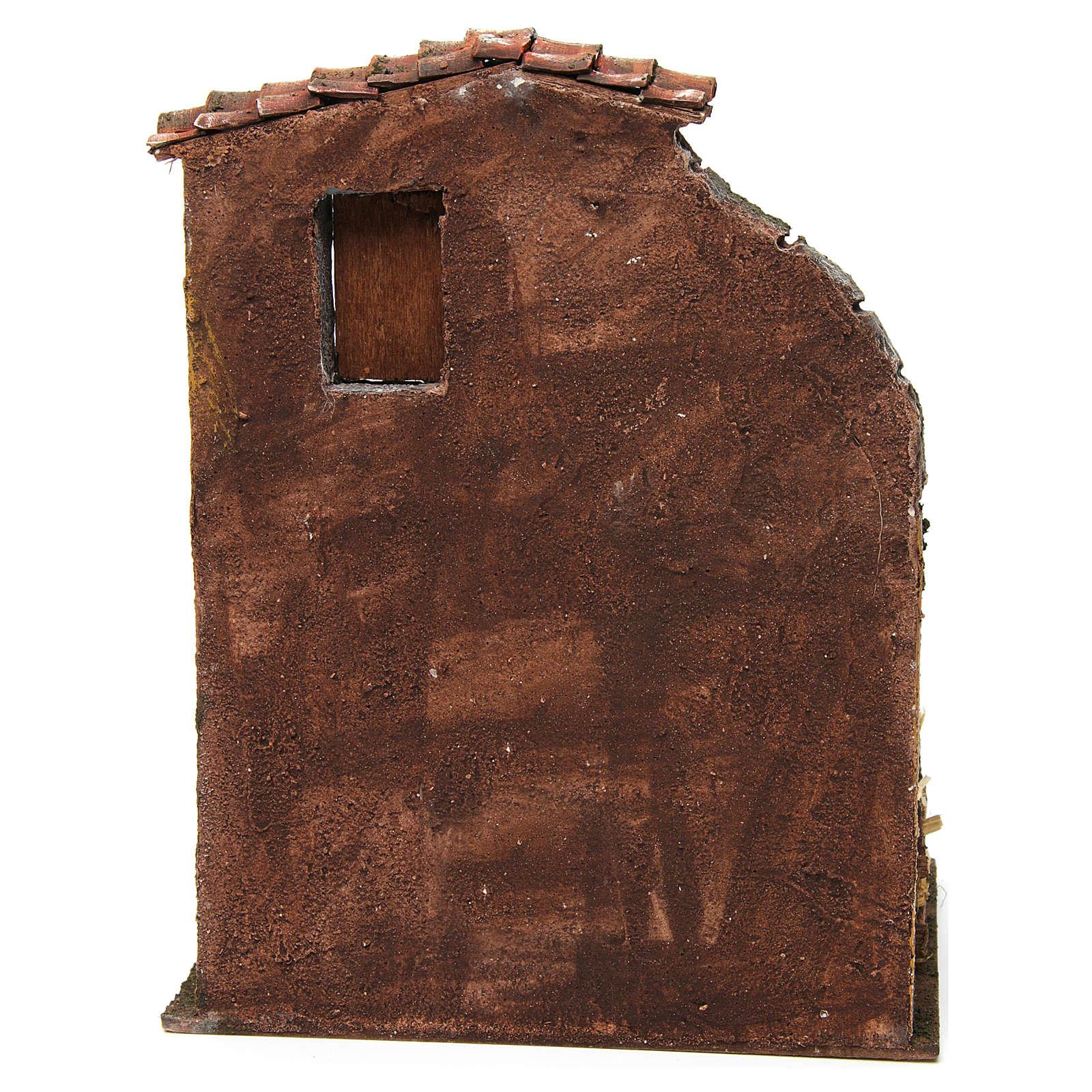 Maison avec étable pour crèche 30x24x18 cm 4