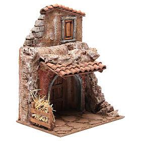 Casa con stalla per il presepe 30x24x18 cm s3