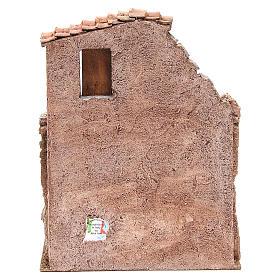Casa con stalla per il presepe 30x24x18 cm s4