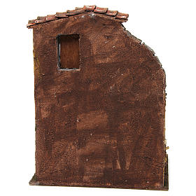 House with stable for nativity 30x24x18cm s4