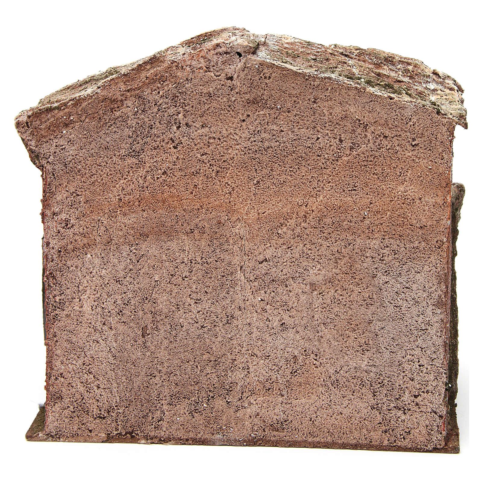 Establo belén con granero 25x24x18 cm 4