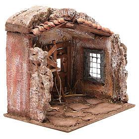 Stall nativity with barn 25x24x18cm s3