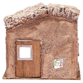 Stall nativity with barn 25x24x18cm s4