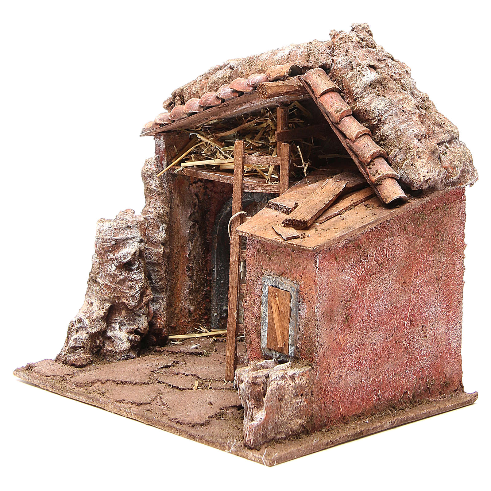Stall for nativity with barn 25x24x18cm 4