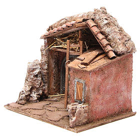 Stall for nativity with barn 25x24x18cm s2