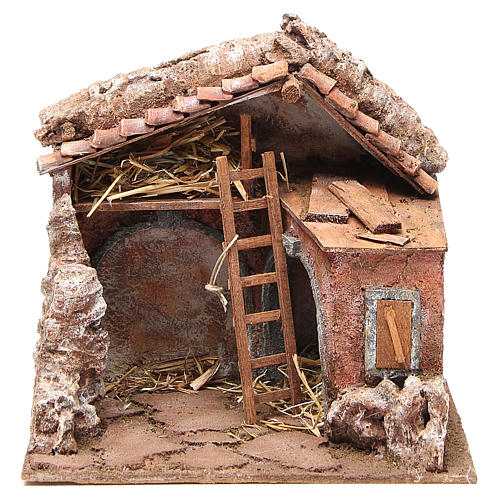 Stall for nativity with barn 25x24x18cm 1