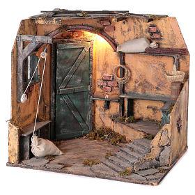 Illuminated cellar for Neapolitan Nativity measuring 40X40X40 cm s2
