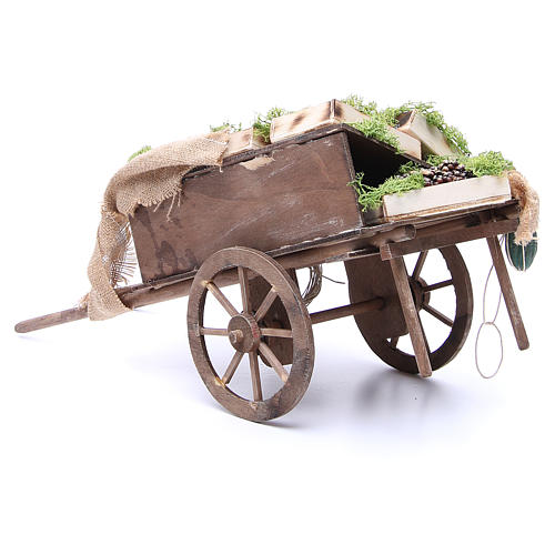 Cart with fruit for Neapolitan Nativity, 24cm 3