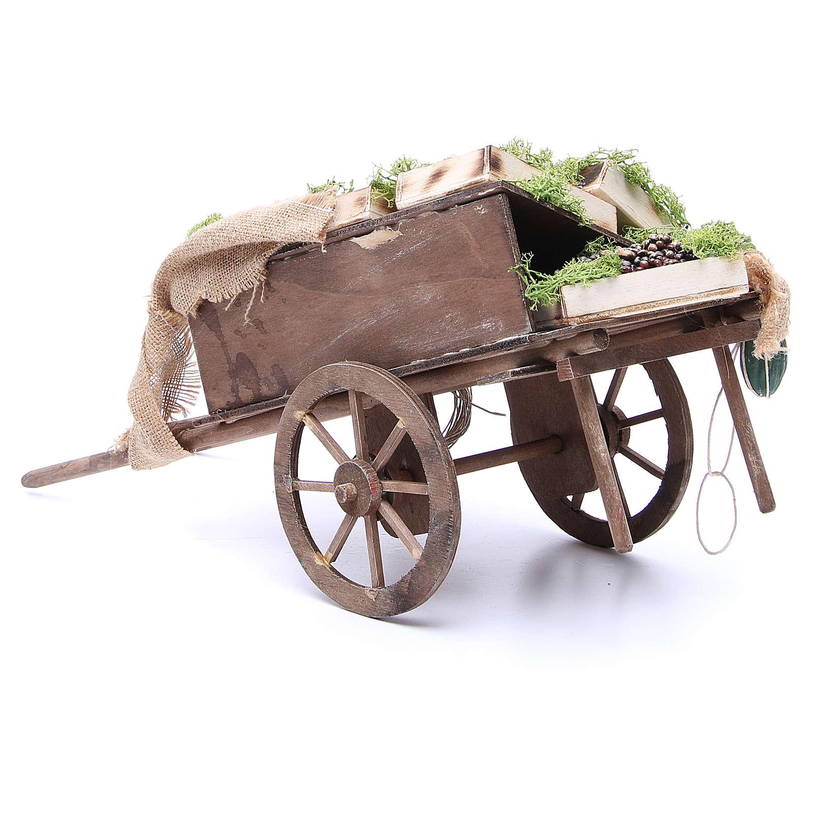 Wóz z owocami szopka neapolitańska 24 cm 4