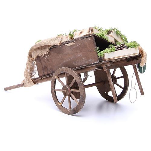 Wóz z owocami szopka neapolitańska 24 cm 3