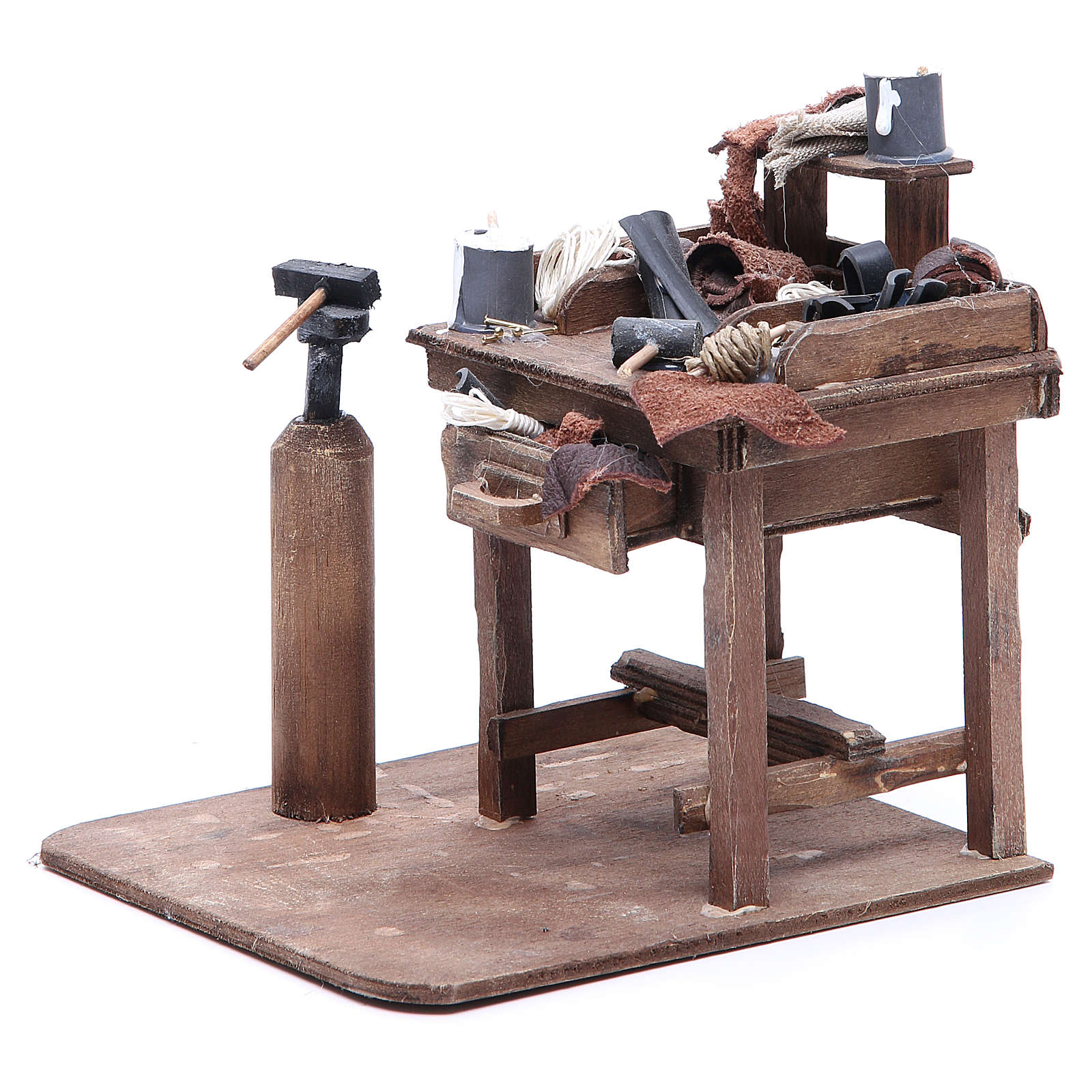 Stall of the shoemaker for Neapolitan Nativity, 24cm 4