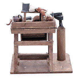 Stall of the shoemaker for Neapolitan Nativity, 24cm s4