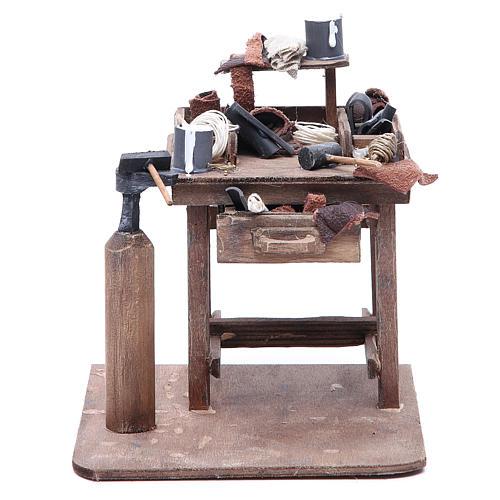 Stall of the shoemaker for Neapolitan Nativity, 24cm 1