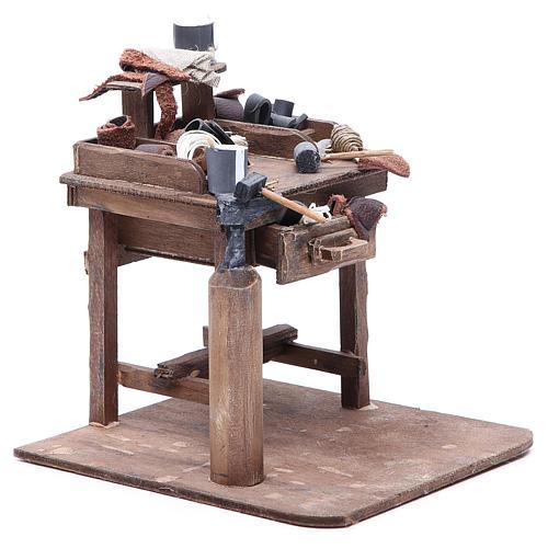 Stall of the shoemaker for Neapolitan Nativity, 24cm 3