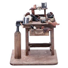 Stall of the shoemaker for Neapolitan Nativity, 24cm s1