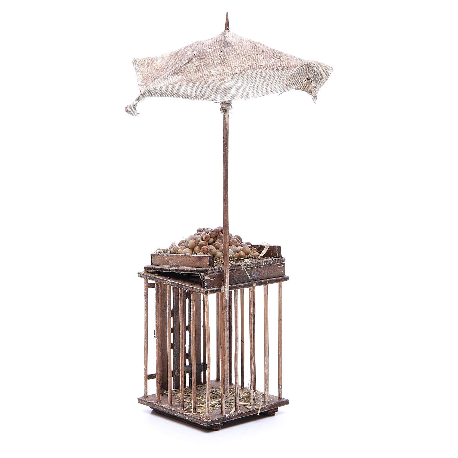 Vente d'oeufs avec parasol 24 cm crèche napolitaine 4