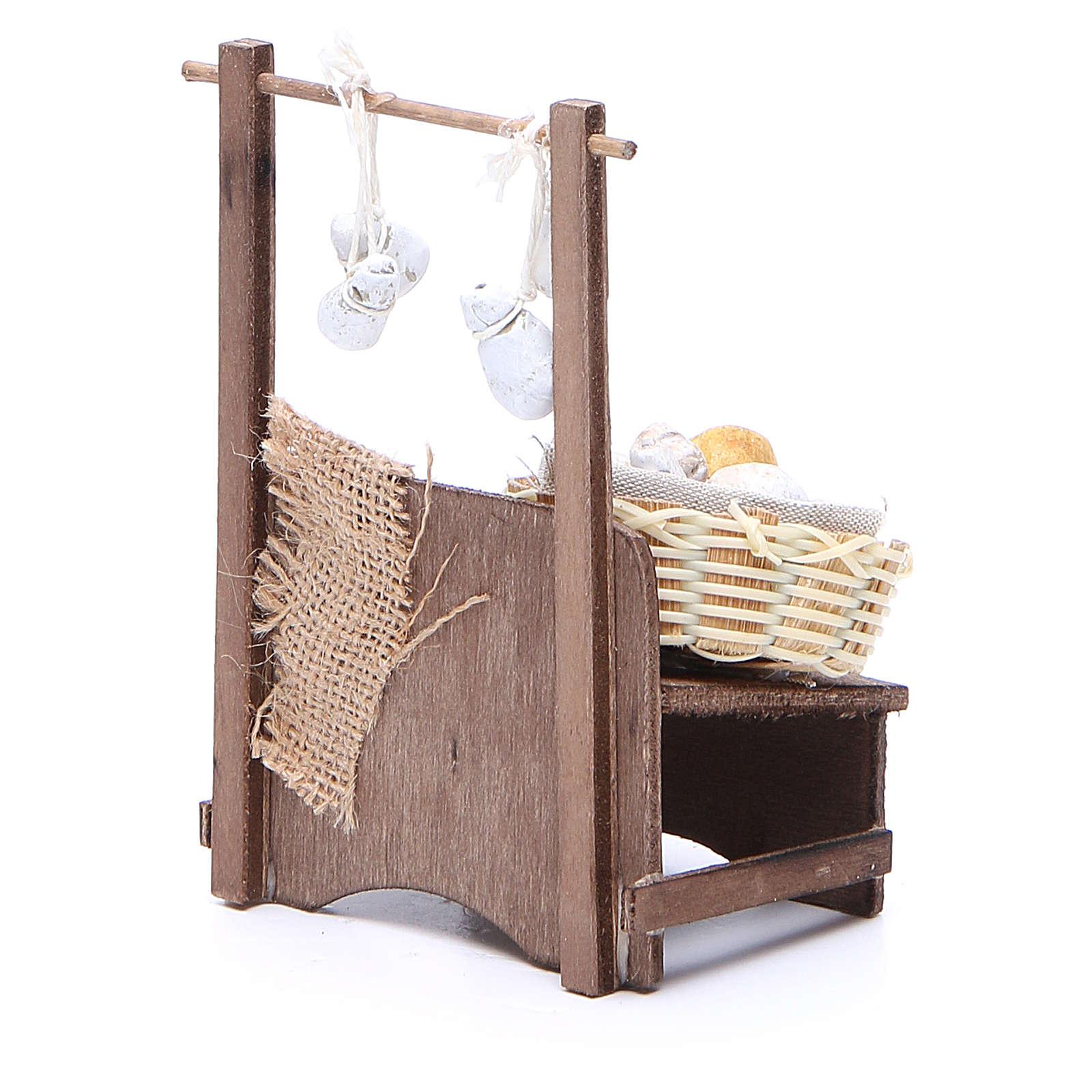 Cheese stall for Neapolitan Nativity measuring 13x13x6cm 4
