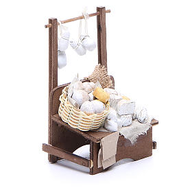 Cheese stall for Neapolitan Nativity measuring 13x13x6cm s3